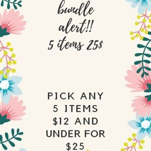 Other - Bundle alert 5 items for $25
